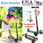 Folding Kick Scooter Kids/Adult 3 Wheels Outdoor Ride Push Scooter Exercise Blue