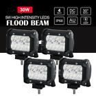 2x 4INCH 30W CREE LED WORK LIGHT BAR Flood Spot OFFROAD 4WD SUV ATV CAR LAMP 12V
