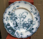 Antique Ridgeway Flow Blue Sutton Pattern Royal Semi Porcelain Plate RARE