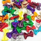 Small Satin Ribbon Bows Flower Appliques sew Craft Kids cloth Lots Upick A0128