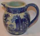 Blue & White Ironstone Pitcher Decorative and Useable