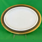 Minton Imperial Gold Cobalt Platter 13.5 inches