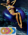 Sevylor 42 Pink Red Inflatable Floating Ring Float Pool Raft Tube Swimming Lake