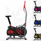 2 IN 1 Elliptical Cross Trainer And Exercise Bike Cardio Workout Machine