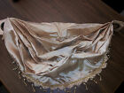 Stylemaster Tribeca Faux Silk Grommet Waterfall Valance with Beaded Trim, Sand