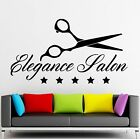 Wall Sticker Vinyl Decal Elegance Salon Beauty Spa Scissors Stylist ig2034