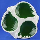 Vintage Shafford Paisley Divided Serving Platter 8350 Green White 12