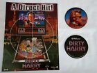 1995 WILLIAMS DIRTY HARRY PINBALL FLYER W/ 2-COASTERS