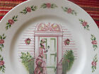 Vintage AVON 20th Anniversary Collector Plate Victorian LADY Shabby Cottage Chic