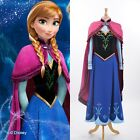 Disney Movie Frozen princess Anna cosplay costume Handmade Adult dress Clothes