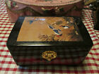 Vintage Japanese  Black Lacquer Jewelry  Music Box