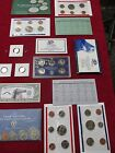 HUGE COIN LOT COLLECTION  MINT+PROOF SETS ESTATE COINS 1991 1993 2006 1964 # 136