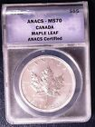 CANADA 2012 $5 MAPLE LEAF ANACS MS 70