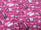 Camp Rock Character Name Fabric END BOLT Jonas Bros Demi Lovato Disney movie n