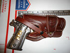 Colt 1911 Suede Lined Leather Holster Wild Bunch Style Field Holster Stamped US