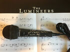 1 OF A KIND INSCR THE LUMINEERS WESLEY SCHULTZ SIGNED MICROPHONE EXACT PROOF COA