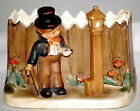 Vintage 1950s Napco Ceramic Planter Man With Watch Nite Owl