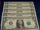 2009 $1 DOLLAR FEDERAL RESERVER NOTES (5 NOTES= $5)