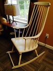 Lena Larsson Mid Century Modern Rocker Rocking Chair Danish Grandessa White
