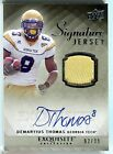 Demaryius Thomas 2010 UD Exquisite Collection Signature JERSEY AUTO 62 99 *T453