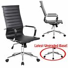 New Black Modern Ergonomic Ribbed High Back Executive Computer Desk Office Chair