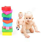 RPP Hot Promotion Wooden 9 Shapes Colorful Puzzle Toy Baby Educational Brick Toy