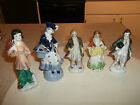 A COLLECTION OF 5 FIGURINES FROM OCCUPIED JAPAN,ALL HAVE NO CHIPS OR CRACLS