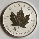 2014 CANADIAN MAPLE LEAF 5 DOLLAR SILVER .9999 - HORSE PRIVY - REVERSE PROOF