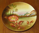 Striking Antique Hand Painted Noritake Morimura Lemon Dish Nappy Flower & Lake