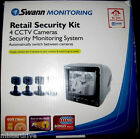 Swann Monitoring Retail Security Kit W/4 CCTV Cameras Security Monitoring System