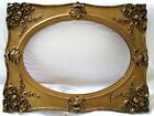 RARE 14X20 ANTIQUE PICTURE FRAME GESSO WOOD OVAL ORNATE MIRROR GOLD FINE ART