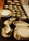 Beautiful Antique 1930's Czech 90 Pieces Porcelain Schlaggenwald Dinnerware Set