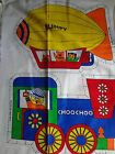Vintage 80s fabric panel pillow toys boat  cut n sew 8 pillows 104