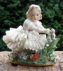 Sitzendorf German Porcelain Dresden Lace Figurine, Figure 2