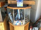Aquarium  44 gallon Glass Fish Tank inc Stand Filters Lights More