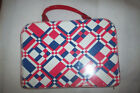 VINTAGE PLASTIC SUITCASE FOR TOYS - PLASTIC HANDLE & BODY ON SUITCASE