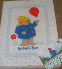 BEARS BALLOONS QUILTED PANELS FABRIC SEWING LOT OF 2 + BONUS
