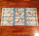 A AQUA FLUTTERING BUTTERFLY & DRAGON FLY FABRIC PANEL