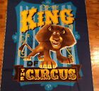 A KING ALEX THE LION MADAGASCAR AT THE CIRCUS COTTON FABRIC PANEL