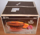 Vintage Anchor Hocking Crown Point 1500/7 18 Pcs Punch Bowl Set Never Opened Box