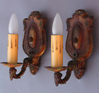 @ RARE Pair 1920s ORIGINAL Spanish Revival Home Wall Sconces Sconce Lamp Light @