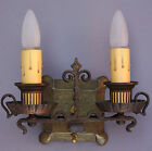 RARE 1920s Original Spanish Revival Home Double Wall Sconce Light Lamp 6H X 10W