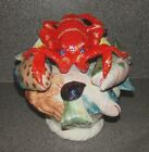 Palissy Majolica Display Centerpiece Lobster Fish Seafood Porcelain Pottery VTG