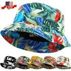 Bucket Hat Boonie Flower Hunting Fishing Outdoor Cap Unisex 100% Cotton NEW