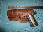 LEFT Colt Springfield 1911 Suede Lined Leather Holster Wild Bunch Field Holster