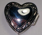 New Pill /Snuff box Sterling Heart Shape Engraved  Sterling silver 8.0 Gr