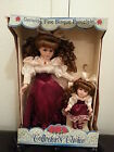 COLLECTORS CHOICE GENUINE BISQUE PORCELAIN DOLLS  IN ORIGINAL BOX NM GREAT DEAL