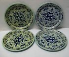 Vintage Delfts Holland Small Metal Trays or Dishes Set of (4)