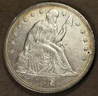 1871 Seated Liberty Silver Dollar! Rare Date, AU condition! nice tone! sd591