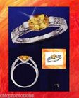 Avon Sterling Silver Genuine Oval Citrine New Ring Size 7 Free Shipping 925